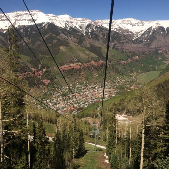View of Telluride from gondola