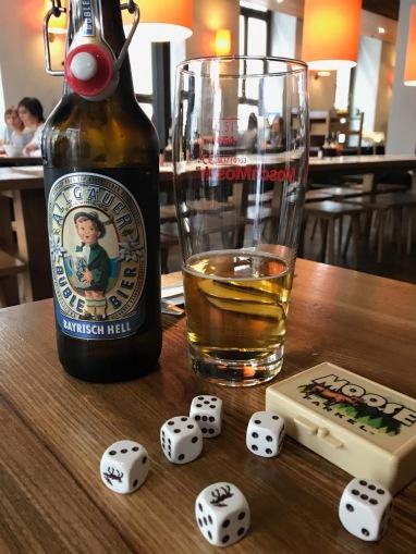 Beer and Farkel in a cozy German brewpub