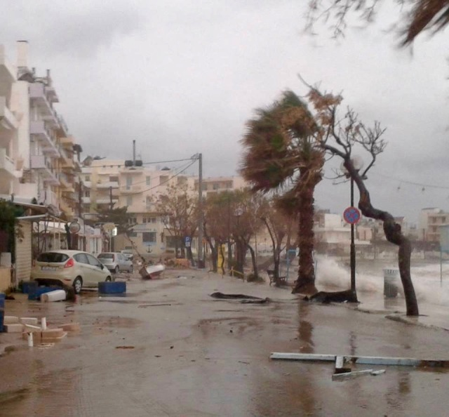 Chania during storm 2015